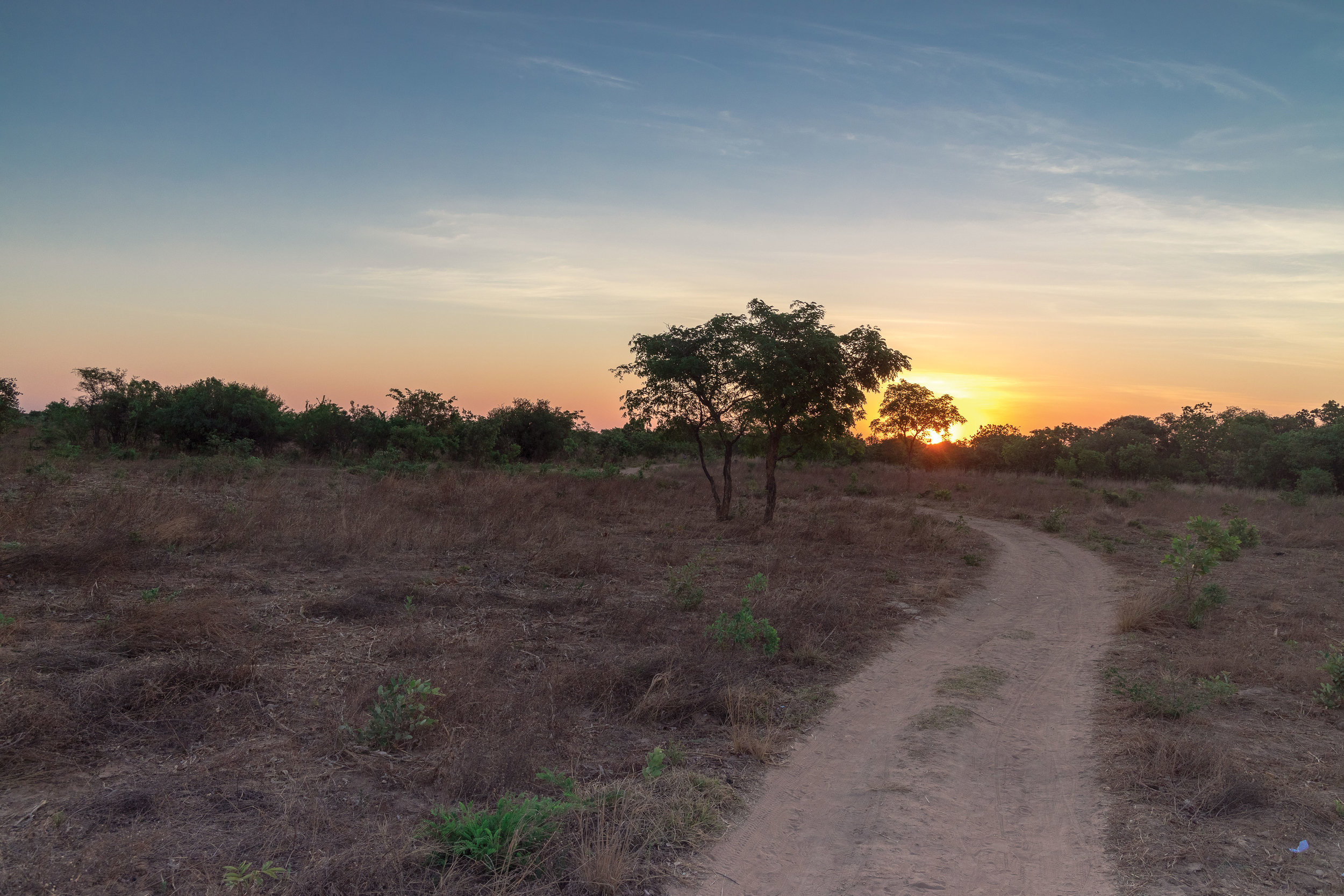 The view of the sunset from Kunchubwi Village.