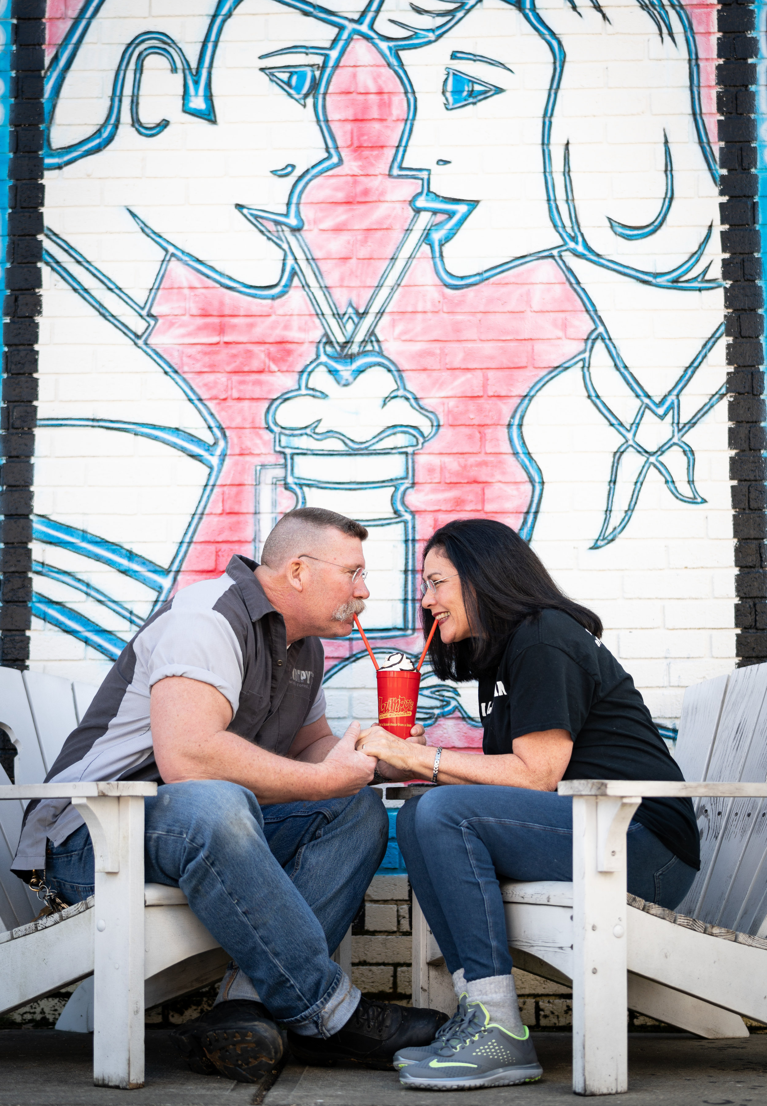 at lumpy's, romance blossoms over shared shakes. Photo by mash photography