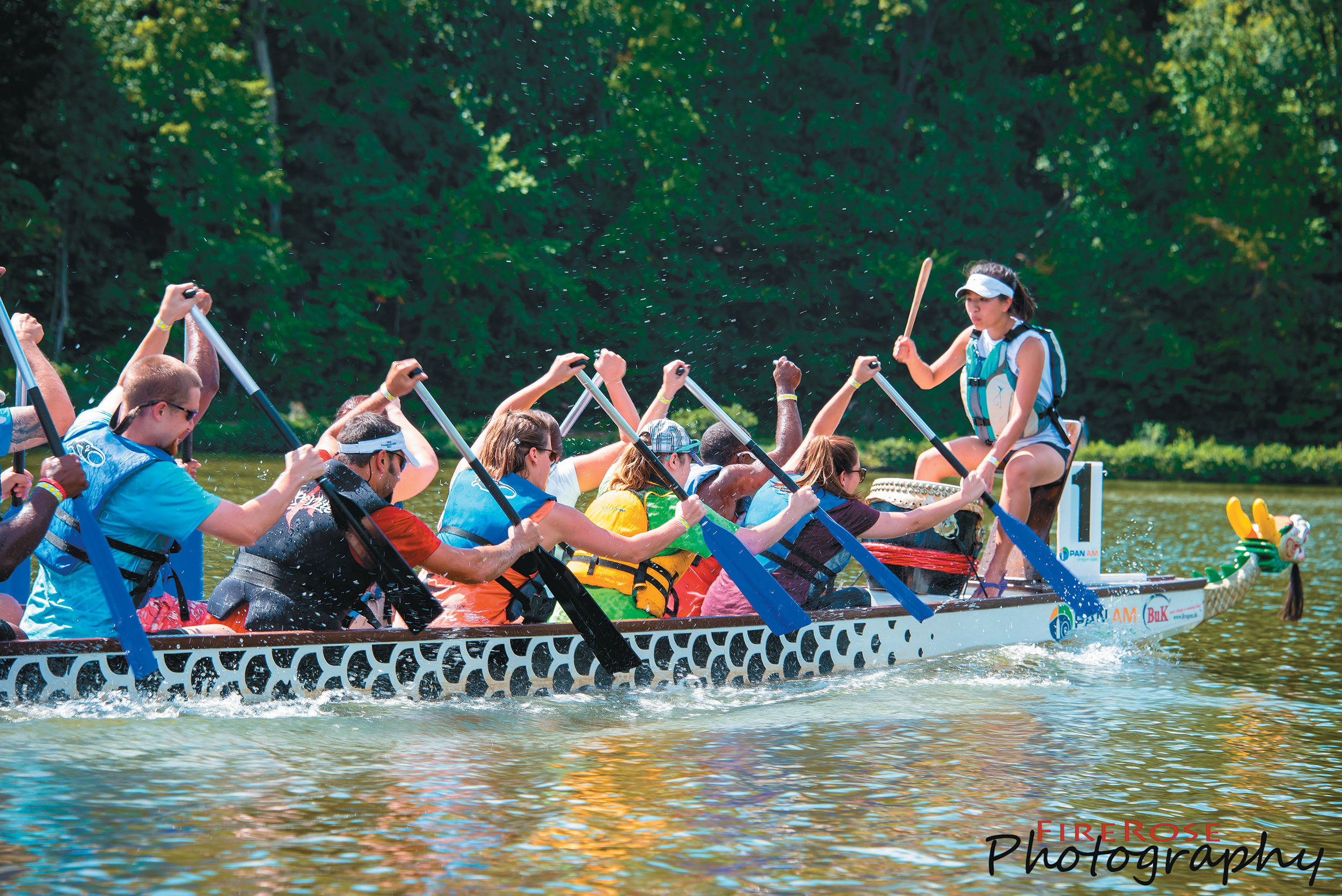 asian focus nc hosts the dragon boat festival each year at koka booth amphitheatre in Cary