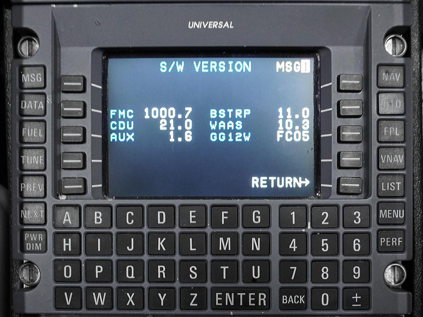 Old SCN S/W Version number (Pre-Mod)