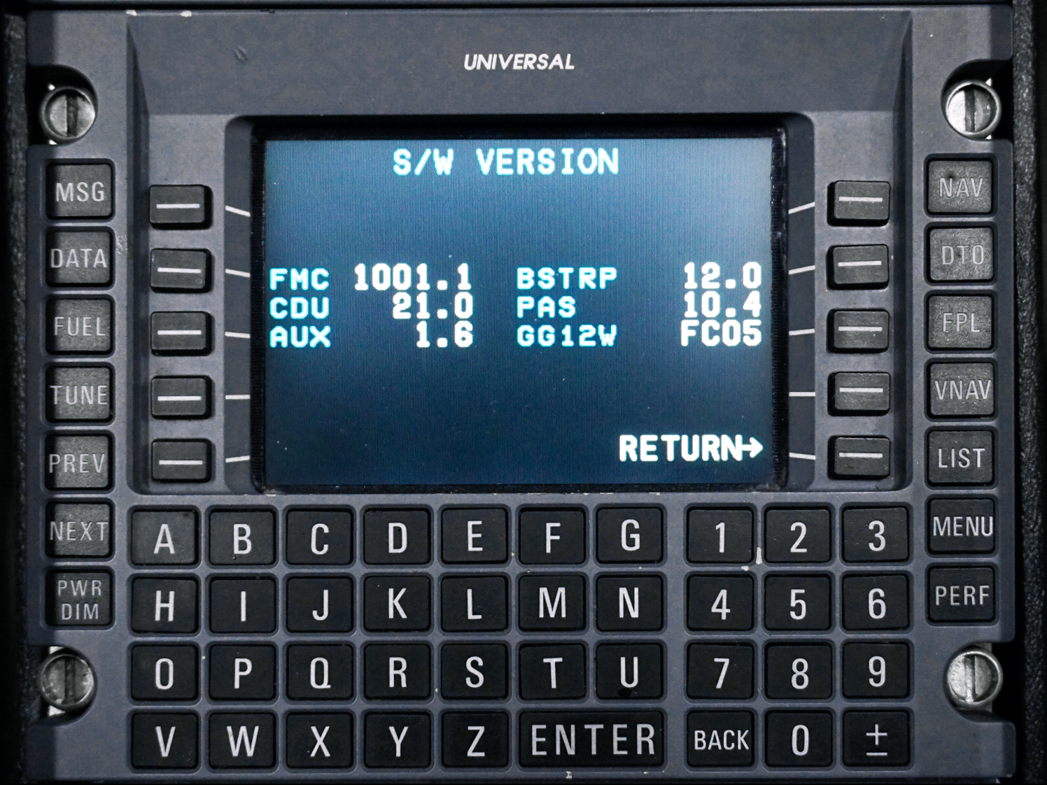 New SCN 1001.X S/W Version (Post-Mod)