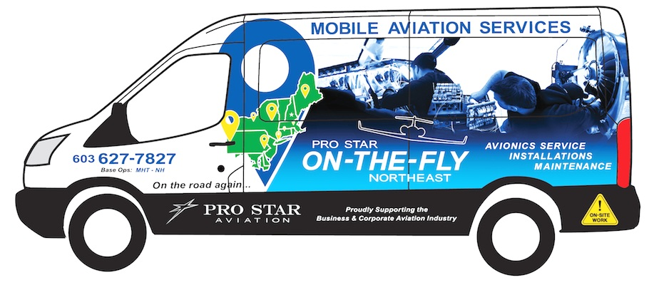 ON-THE-FLY Service - Mobile Installation, Avionics Service & Maintenance throughout the Northeast U.S. and beyond by Pro Star Aviation.