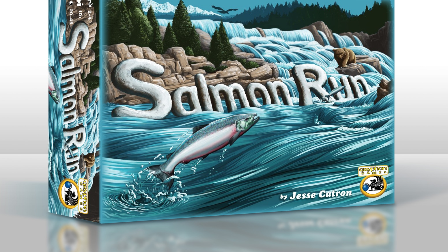 """Salmon Run - """"Enjoy a fast-paced racing game for everyone! Rapids, waterfalls, bears, & eagles all await the salmon on their quest upriver to spawn"""""""