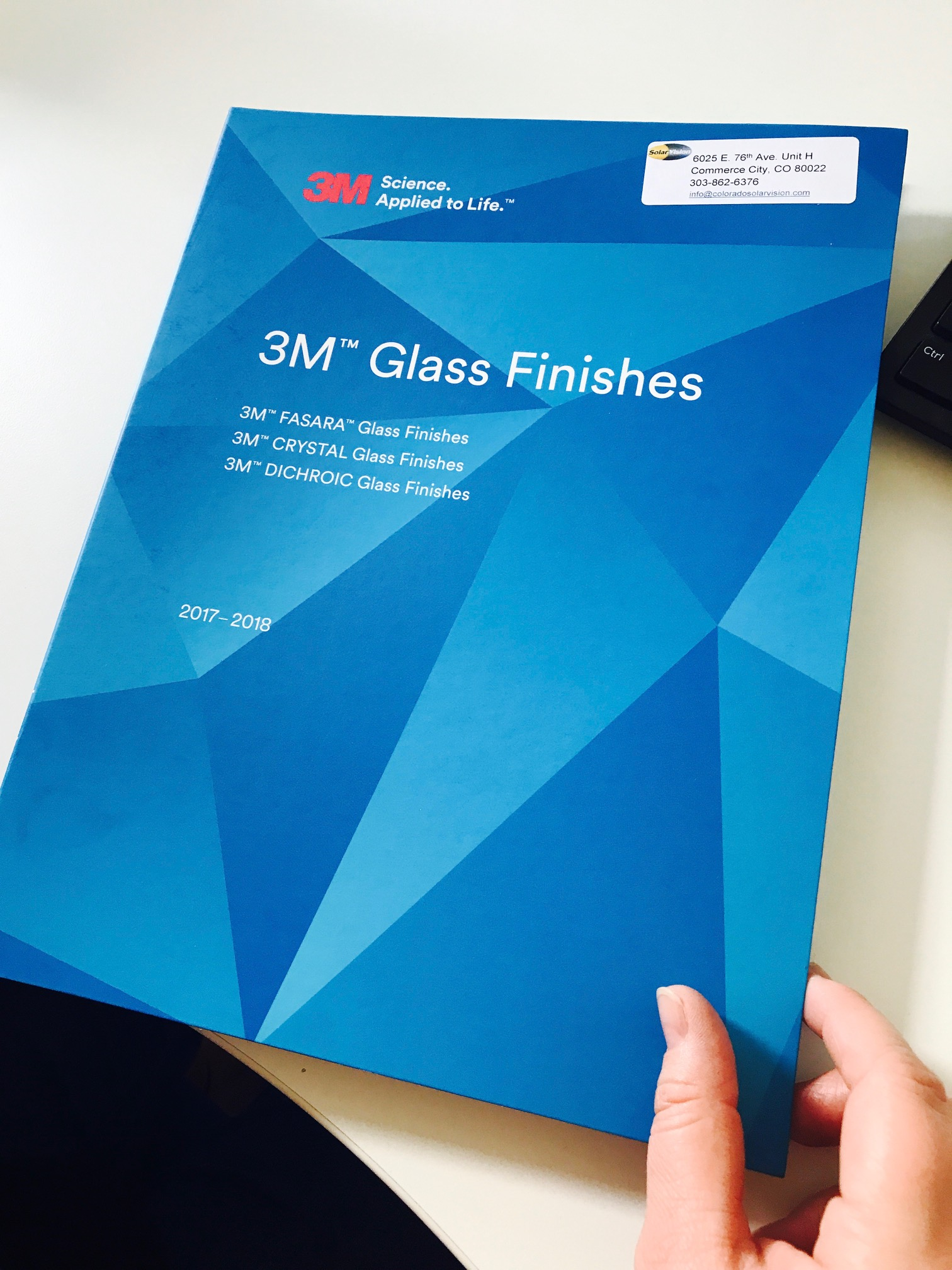 New 2017 Fasara 3M Glass Finishes Sample Book.