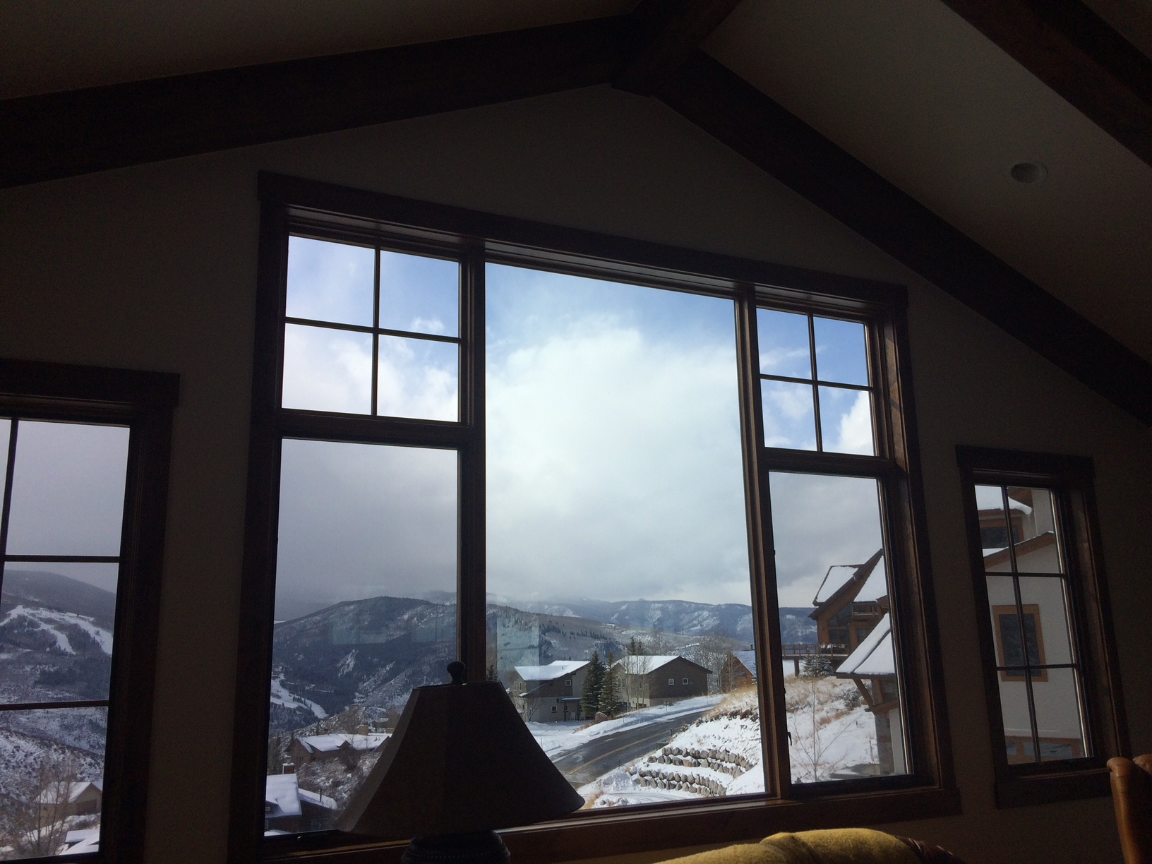 3M Night Vision 25 applied to the windows at this home in Avon, CO. Great views of the slopes, less the glare, and UV Rays! A must
