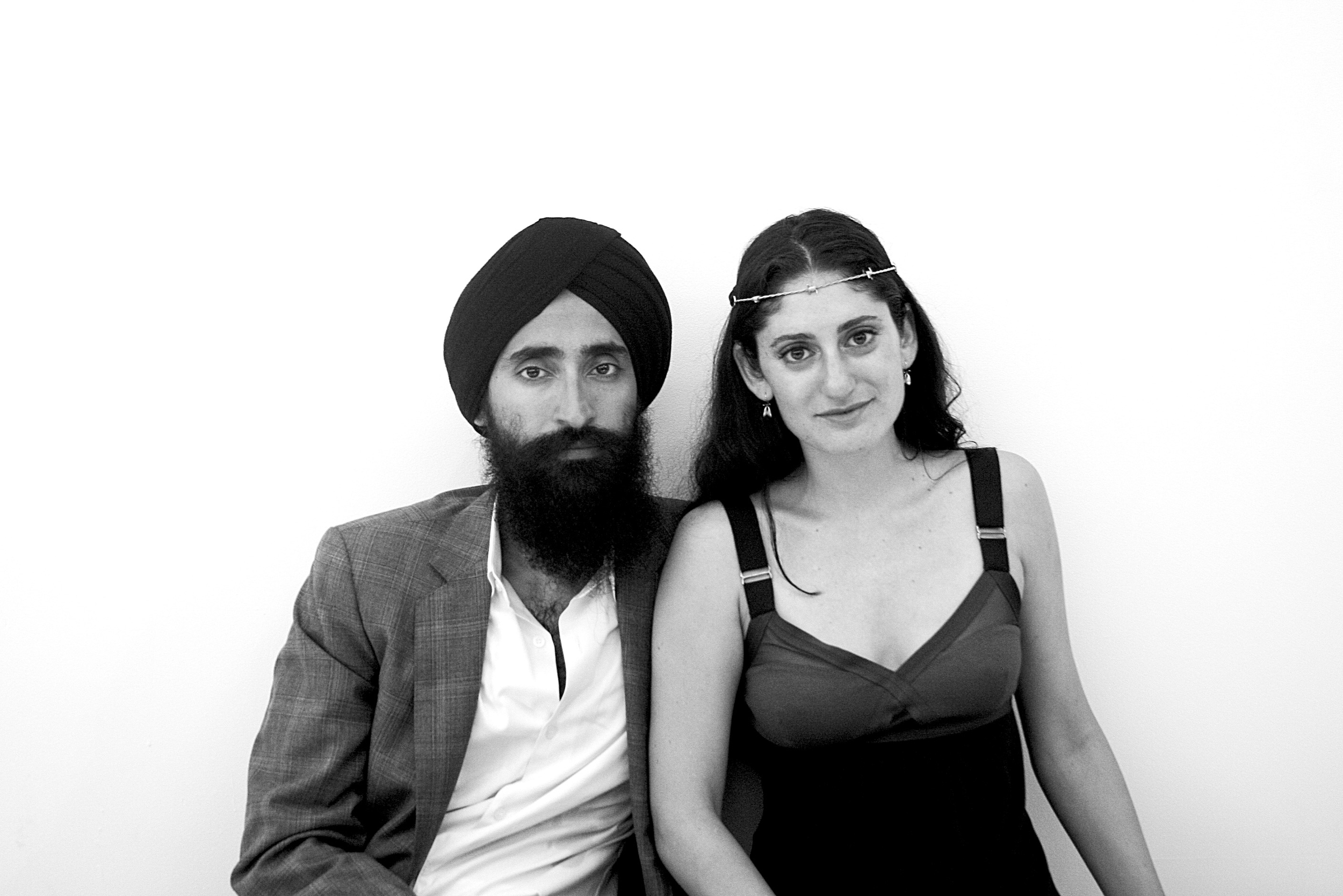Designer and actor Waris Ahluwalia with designer and filmmaker Arden Wohl.