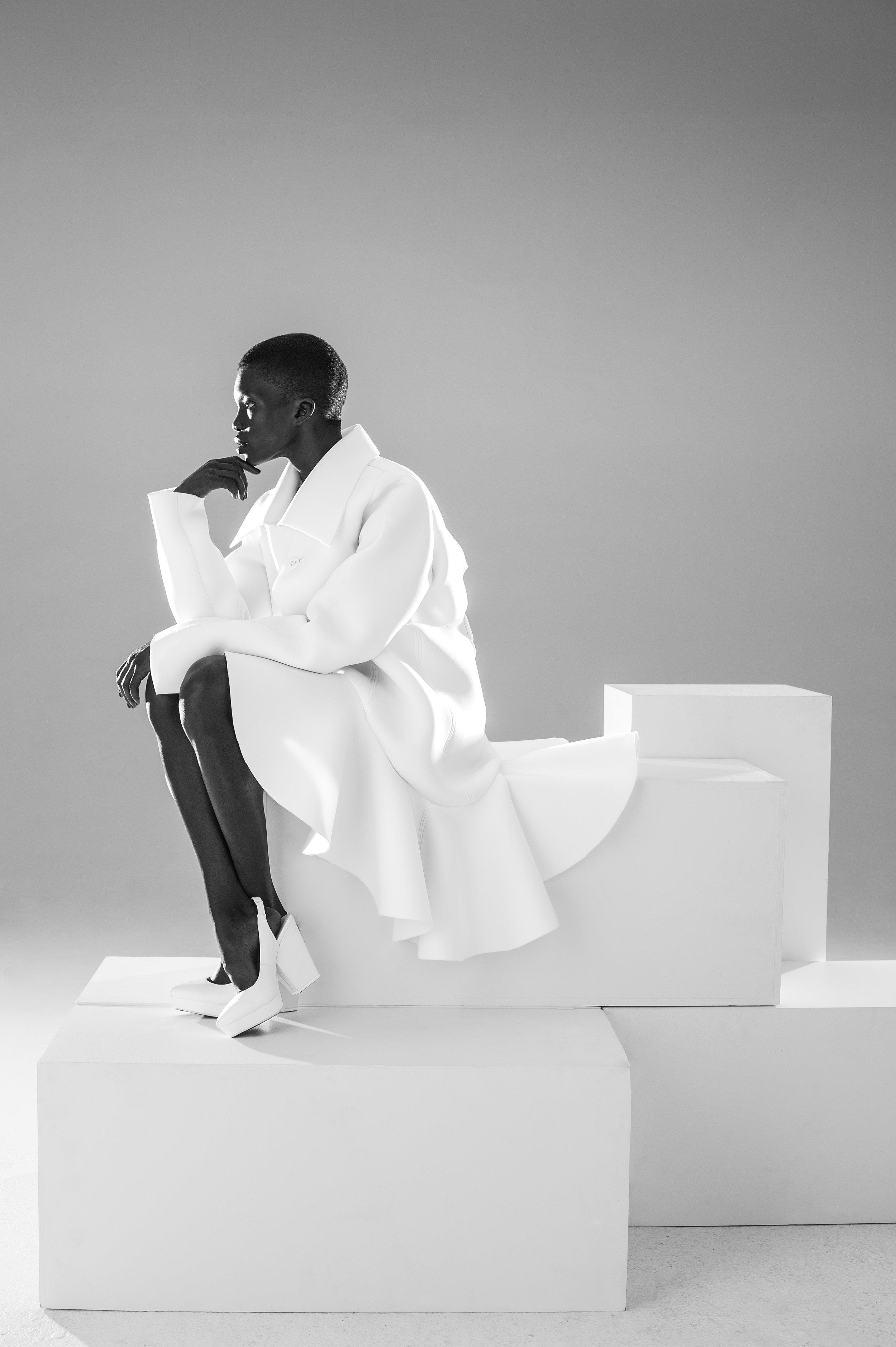 Coat by Nika Tang, MFA Fashion Design.