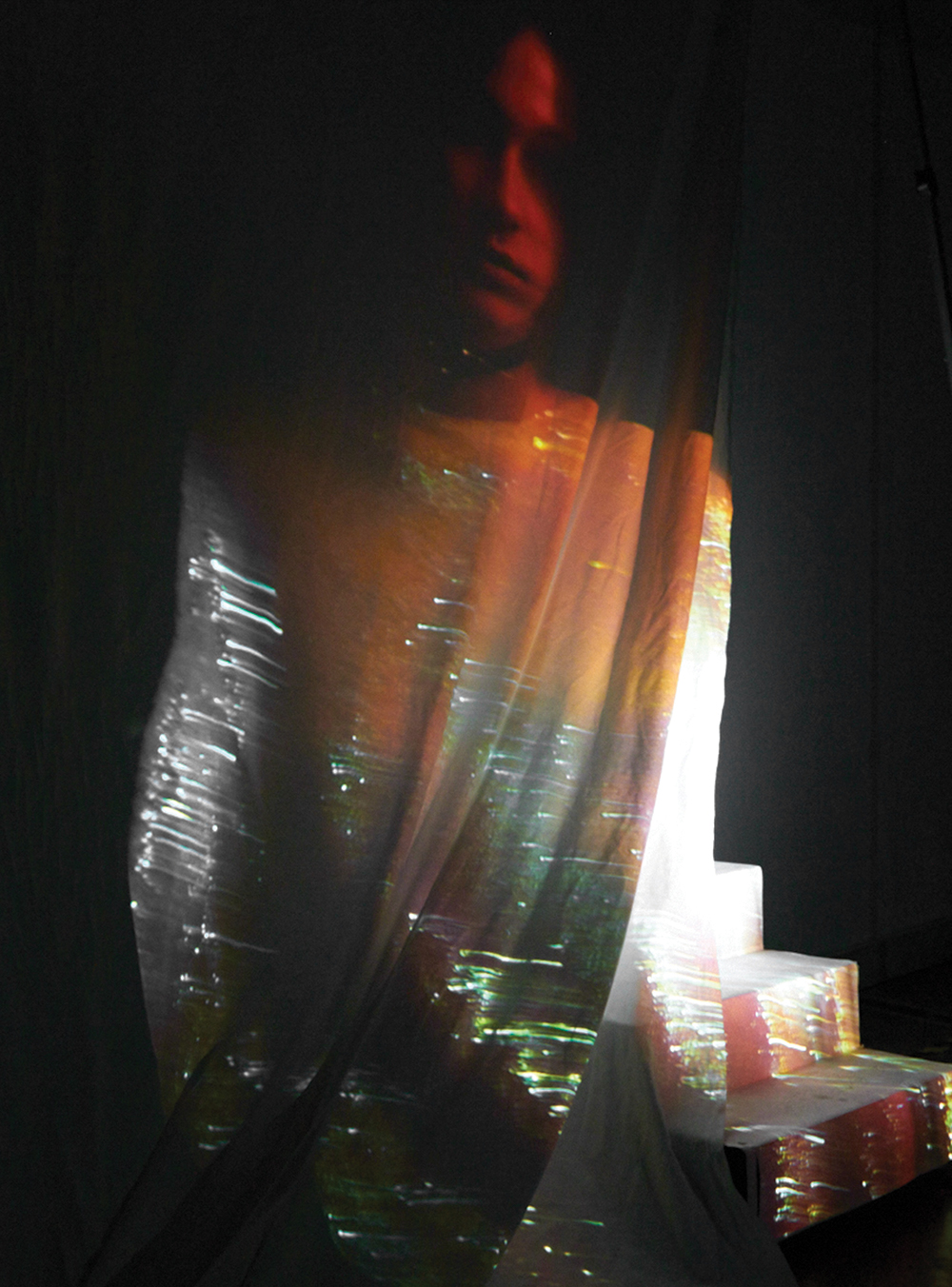 Dress by Max Lu and Jingci Jessie Wang, MFA Fashion Design.