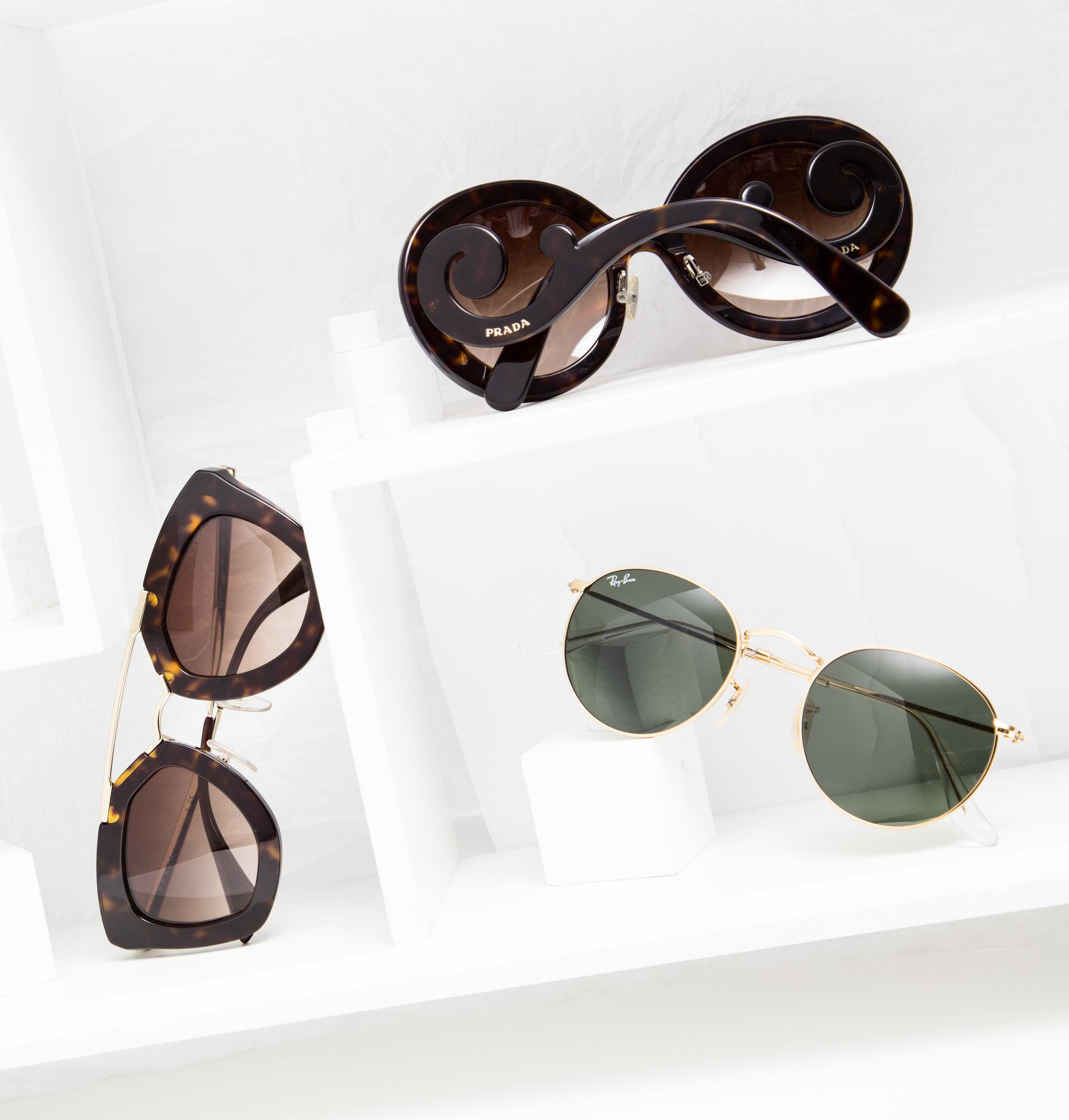 Photography by Danielle Rueda, MFA Photography. Styling by Nakia Pleasant, BFA Fashion Styling, and Irene Kim, BFA2 Visual Merchandising. Sunglasses by Prada and Ray Ban.
