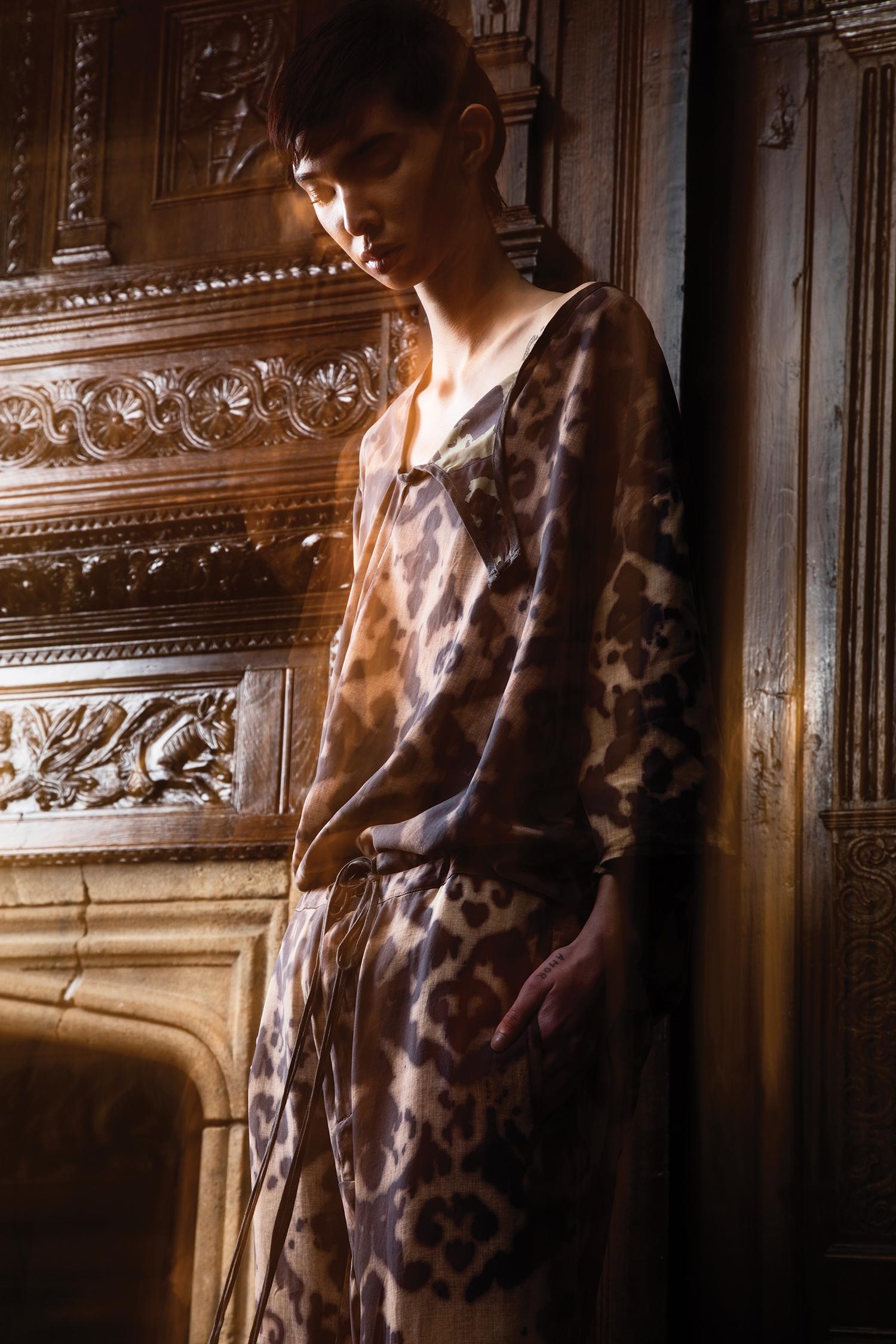 Top and Pants by Justin Moreno, BFA Menswear Design.