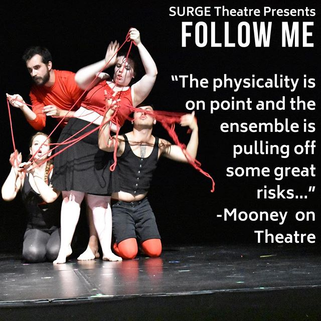 Don't miss this run of FOLLOW ME @beyondwallstpm as part of @toronto_fringe  We have four more shows left, so get your tickets through the link in the bio!  #theaTO #fringeTO #CDNcult #theatre #toronto #thesix #the6 #the6ix #performance #summer #pspatio #devised #devisedtheatre #phyiscaltheatre #womenintheatre #decolonizetheatre #phyiscallydevisedtheatre #criticism #reviews
