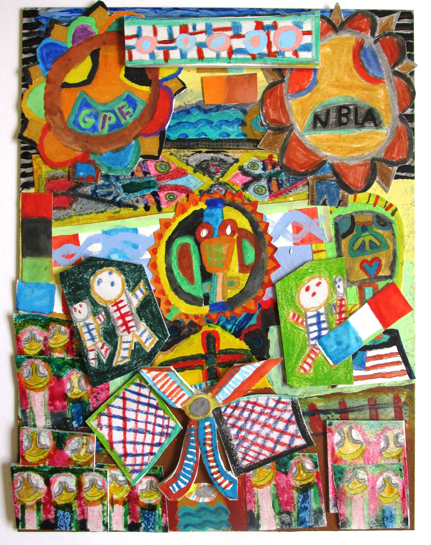 Paul Almeida, Rising Patriotic Life/Lives, Mixed Media Collage