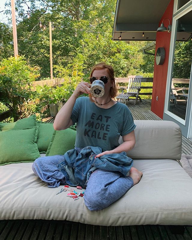 Some things I like are coffee and sewing and my parents' deck