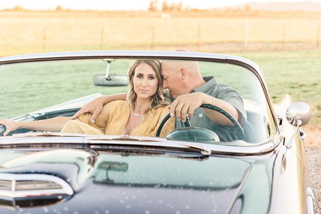 """Your love makes my heart go vroom vroom vroom""... _  _  _  #sacramentoweddingphotographer #engagement #engagementphotos #engagementsession #bride #sacramentobride #modelT #tbird"