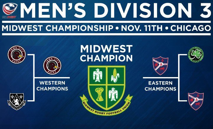 The Ducks will face the  Fort Wayne Rugby Club  in Chicago on Nov. 11 for the Division 3 Midwestern Championship.