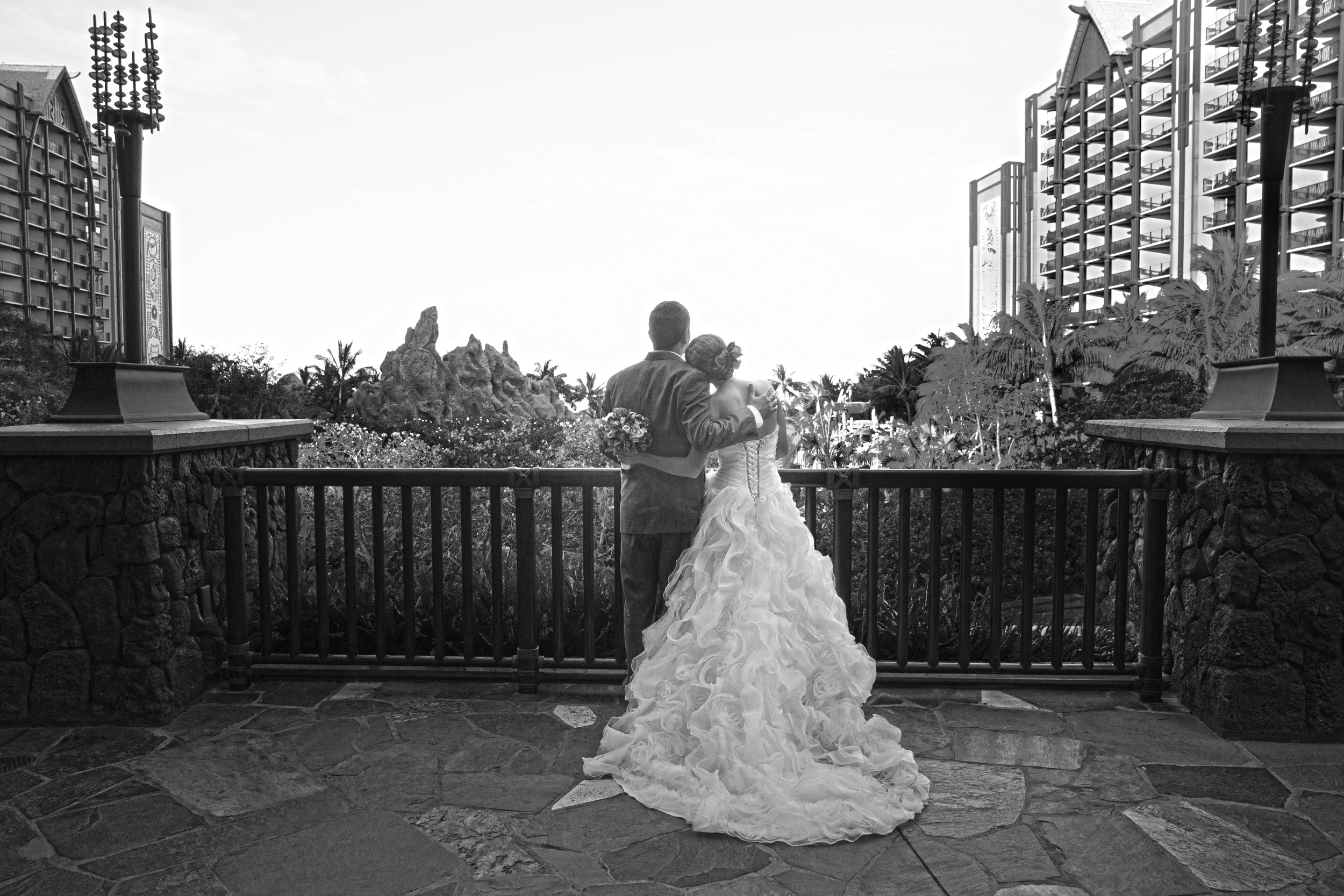 """"""" Bianca Photography  does amazing work! I had the privilege to see Grant Gomes work at my best friend's wedding a year before we had ours at  Aulani . Bianca was our photographer for our wedding and for wedding portraits the morning after and she was so fun to work with! She totally got into our goofy groove and we got a great mix of beautiful, fun, traditional, classy, and silly photographs! She was super easy to work with and made me and my husband very relaxed and confident in taking the photos. She also corralled our guests very quickly so that we got the most out of our photography time... something I really appreciated!""""   Location:  Aulani, A Disney Resort & Spa"""