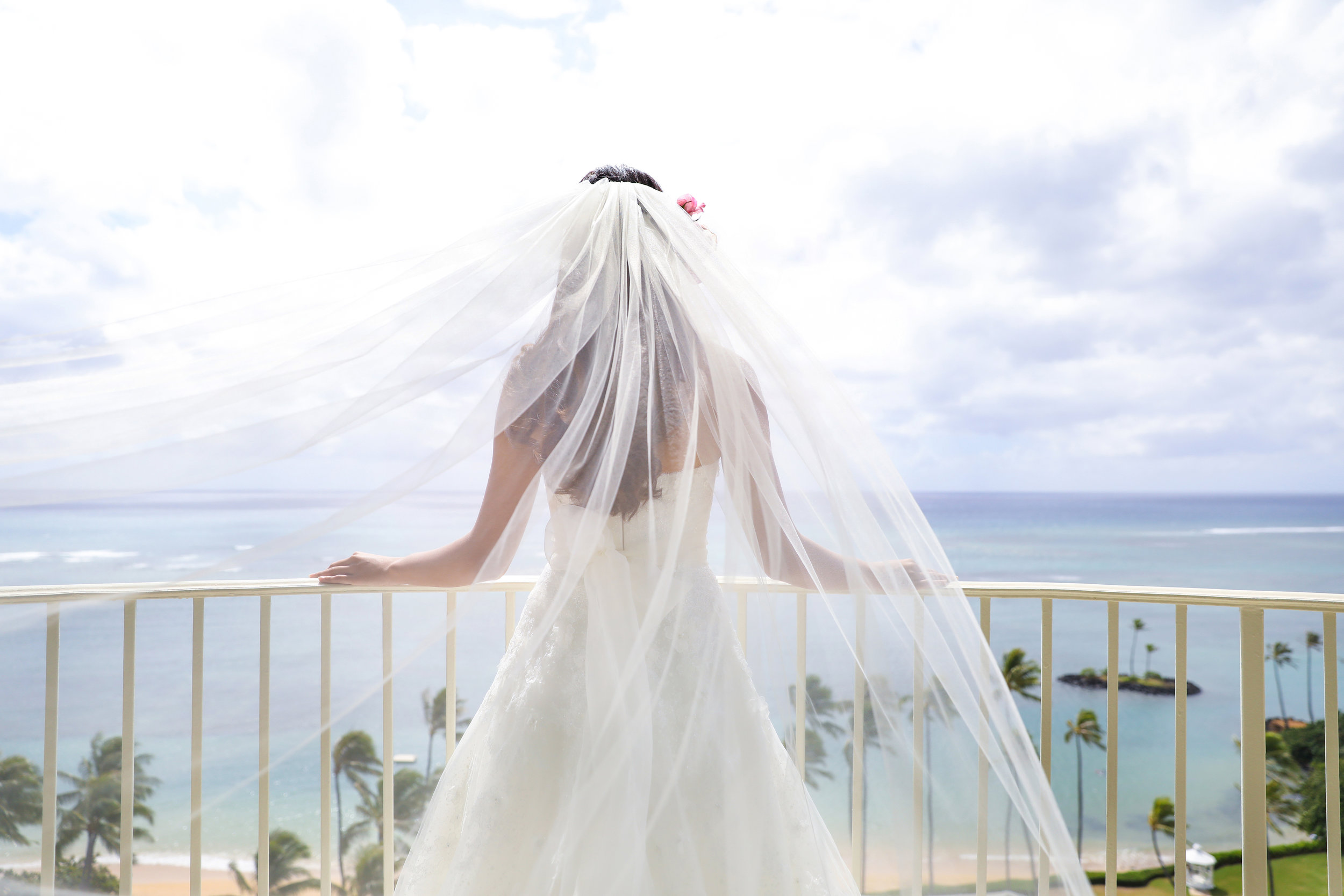 A view from a bridal suite...  Location:   The Kahala Hotel & Resort   New Featured Weddings:   biancaphotographyhawaii