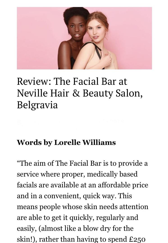 The Facial Bar, London