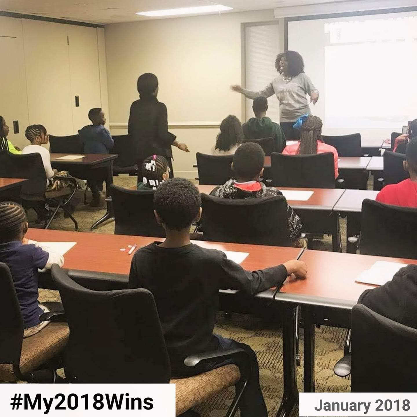 January 2018: I was invited by the Family Academy of First Baptist Church of Glenarden to teach these young beauties on confidence and a positive self image. I was so grateful for the opportunity because I adore children.