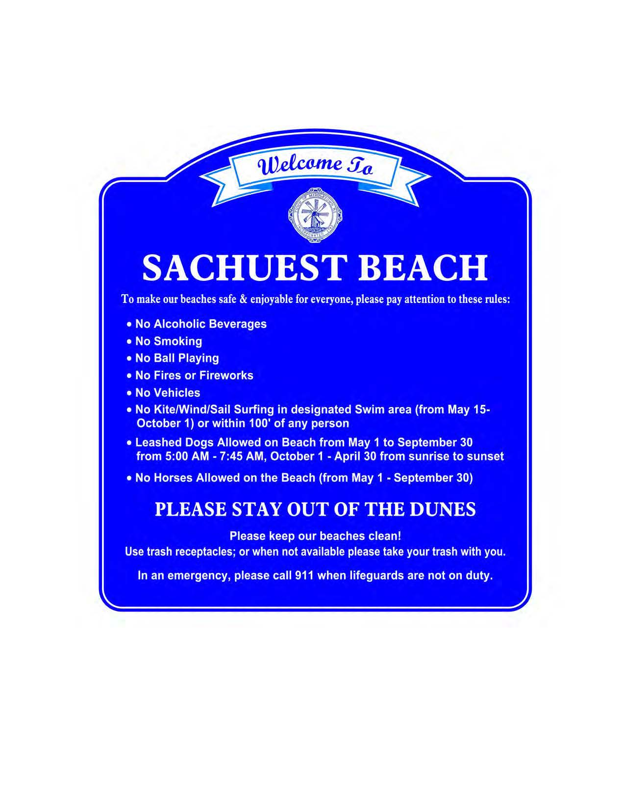 Custom Sign - Sachuest Beach