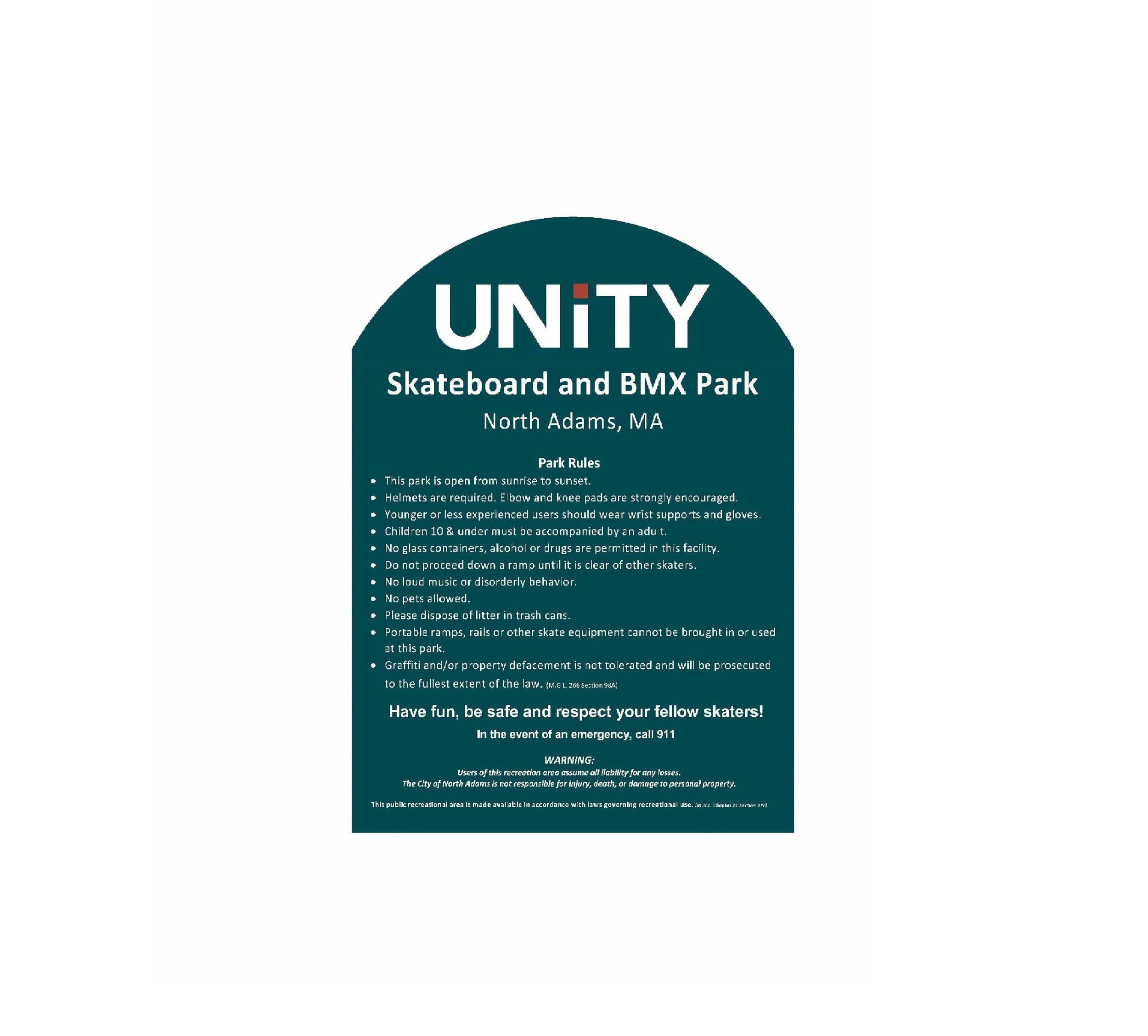 Custom Sign - Unity Skate Park