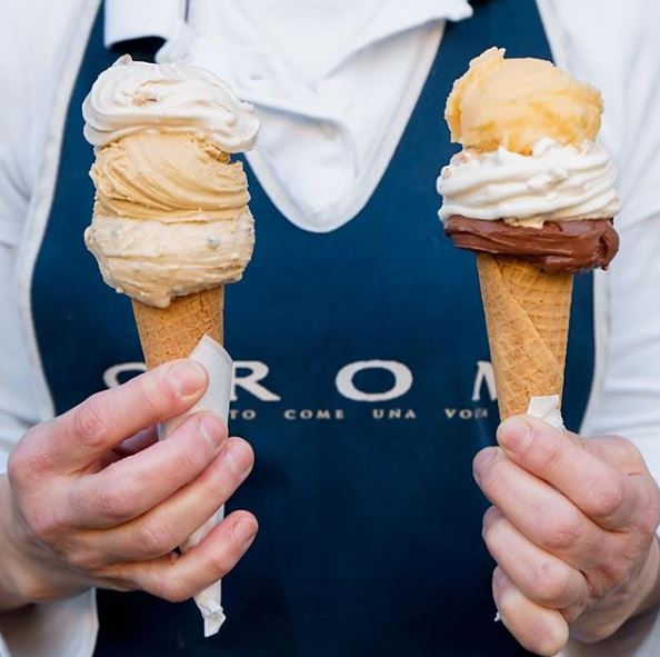 Gluten Free Gelato from GROM (Establisment in Venice)