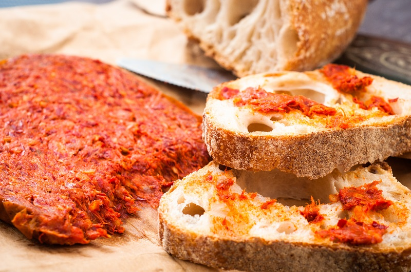 Nduja  – A spicy salami spread often served on bread and with cheese.