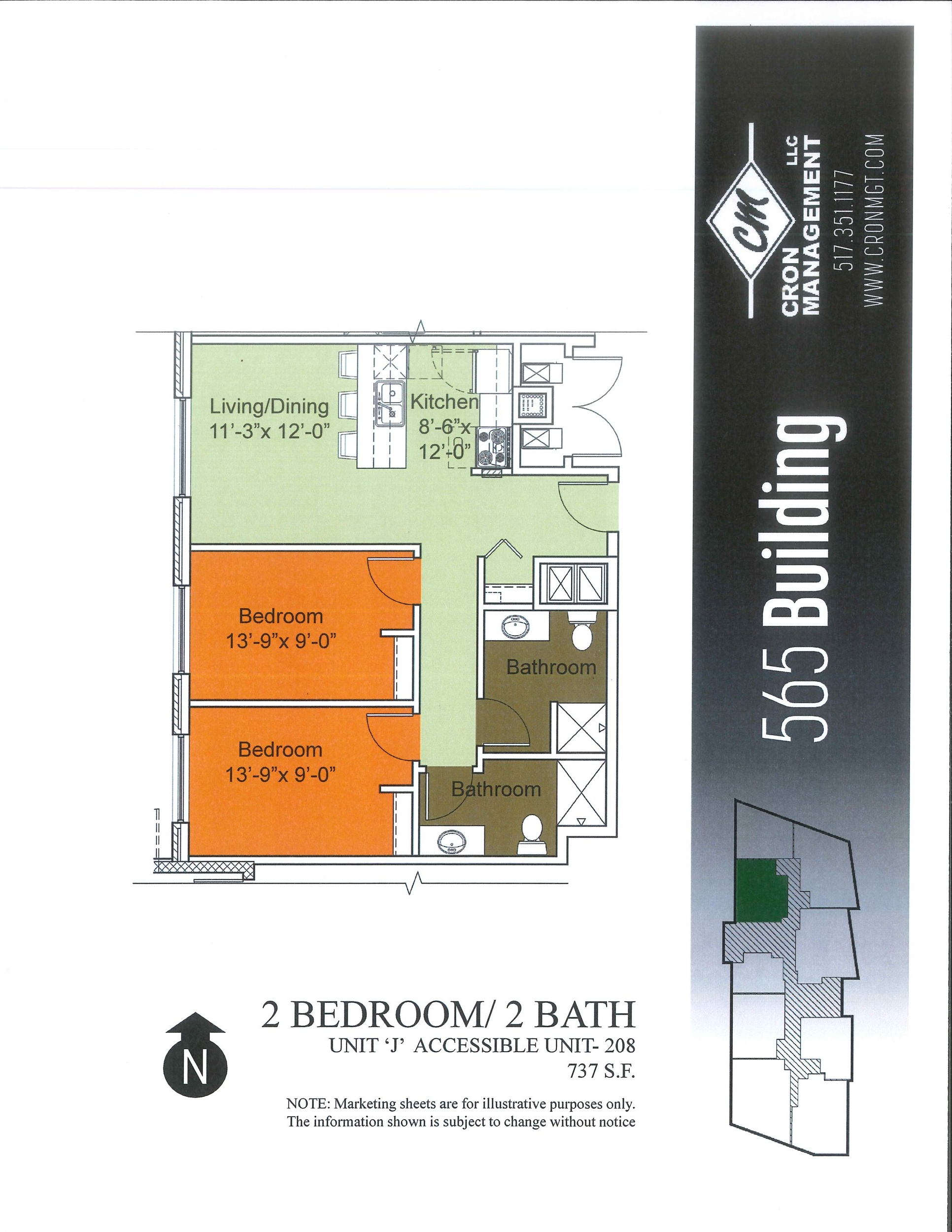 208- Two Bedroom, Two Bath