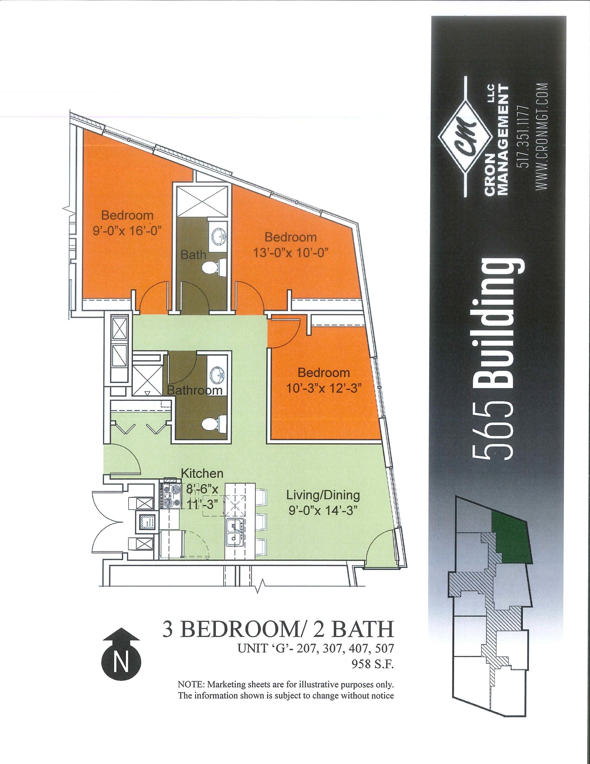 207-507- Three Bedroom