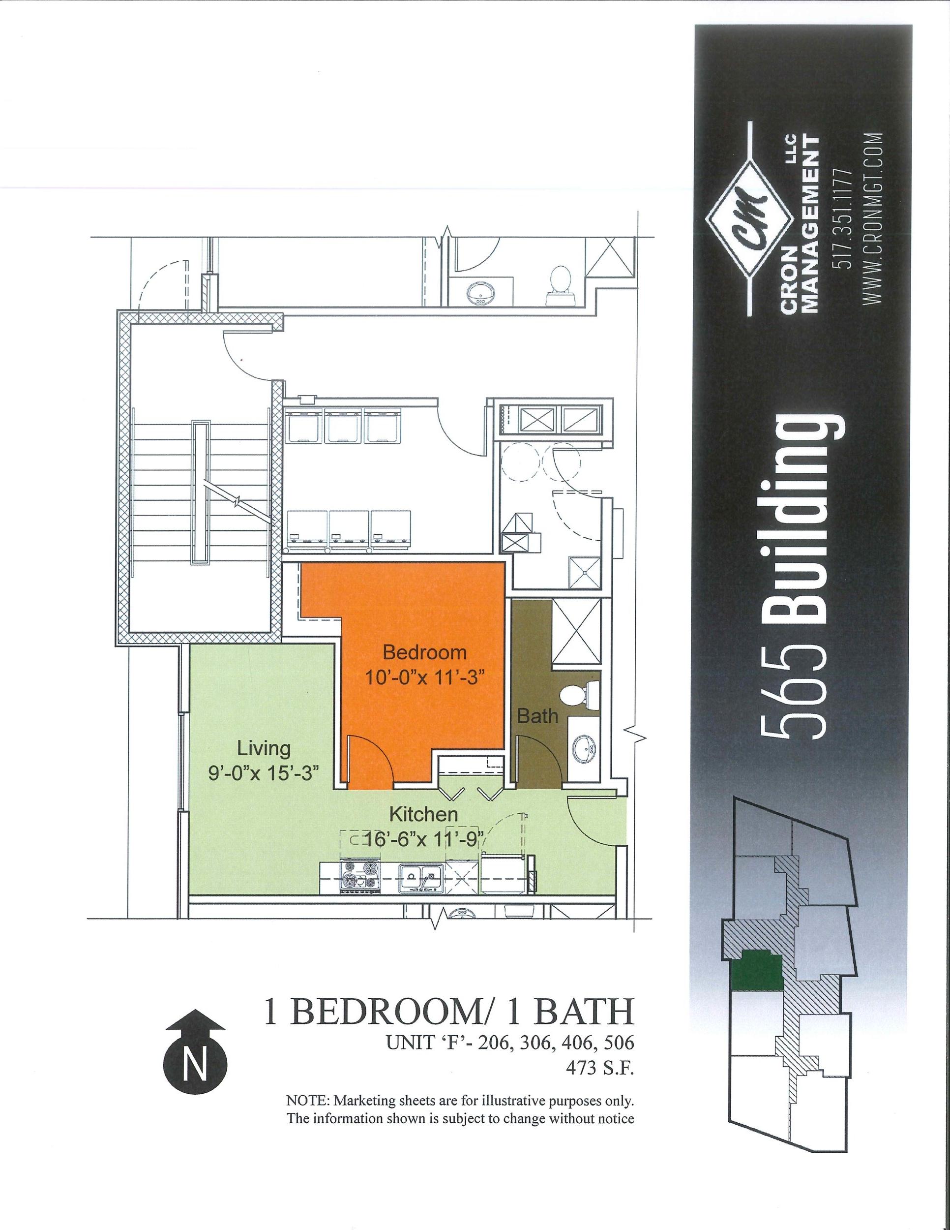 206-506- One Bedroom