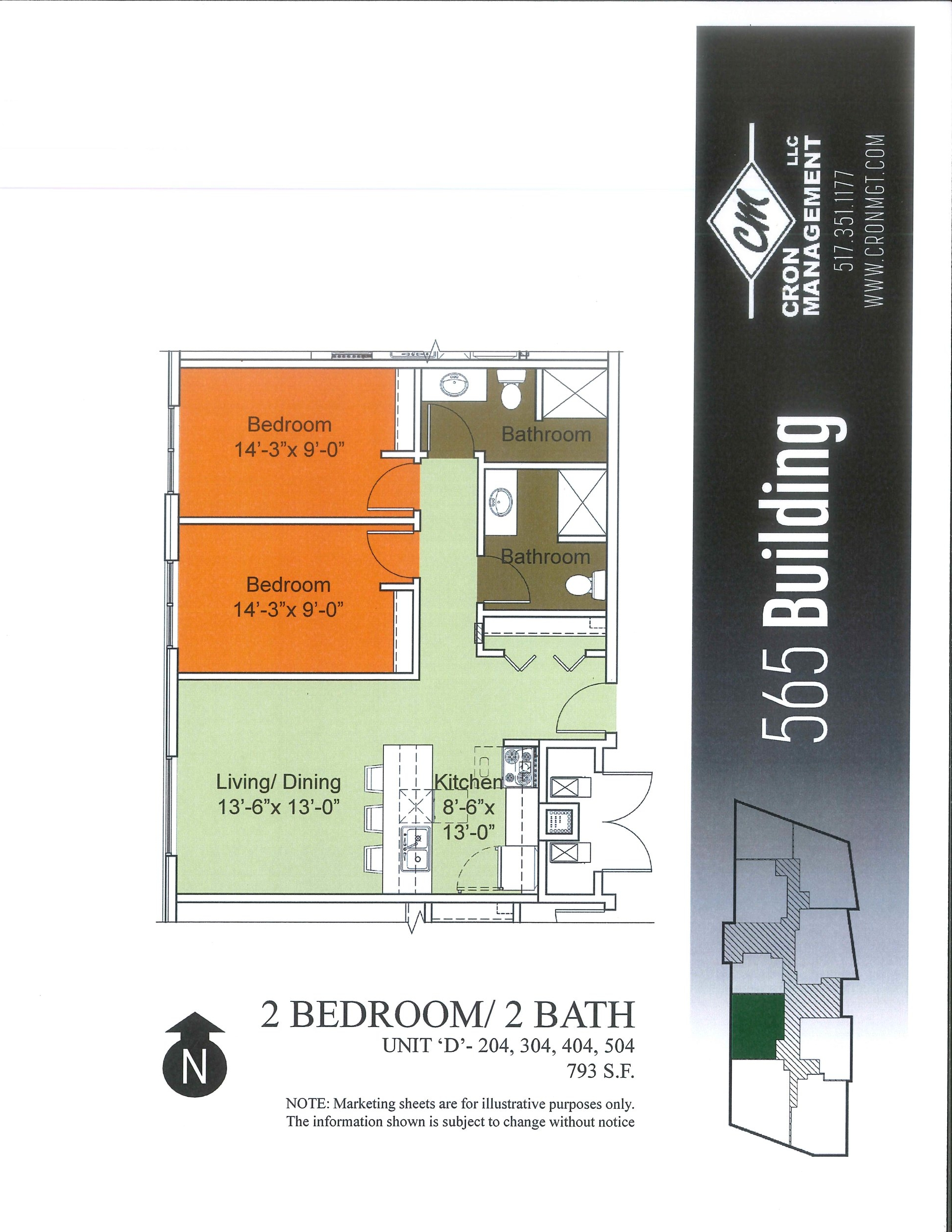 204-504- Two Bedroom, Two Bath