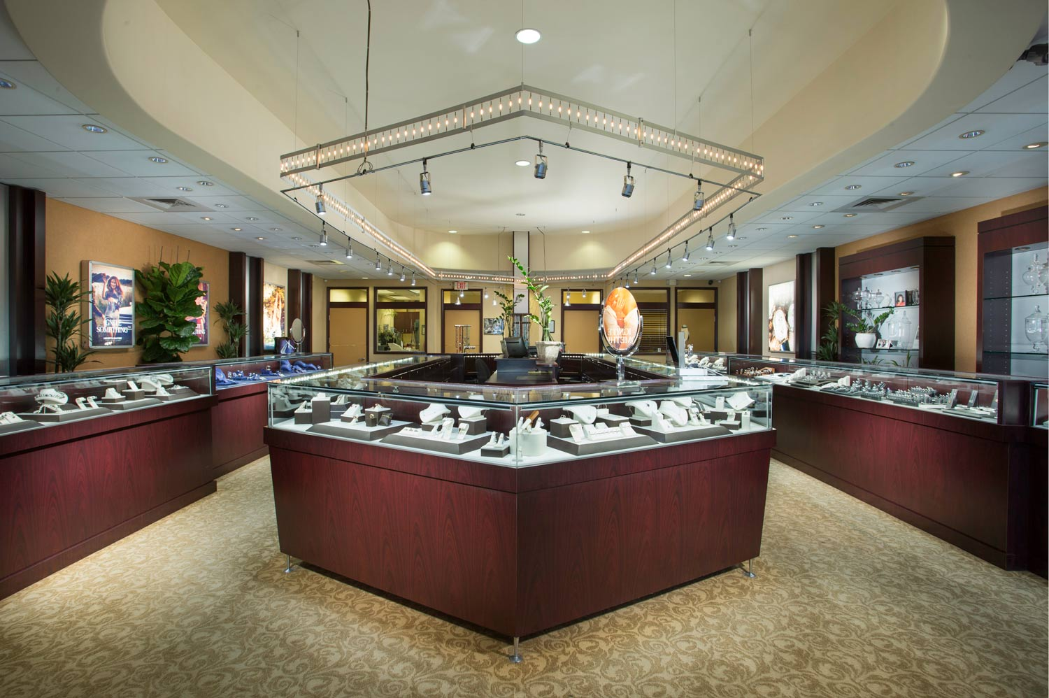 Architectural Photography of Jewelry Store Interior Taken By the Professional Architecture Photographers at Harper Point.