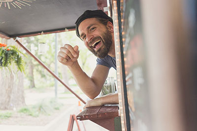 Commercial Photography in Camarillo of Smiling Man Taken by Harper Point.
