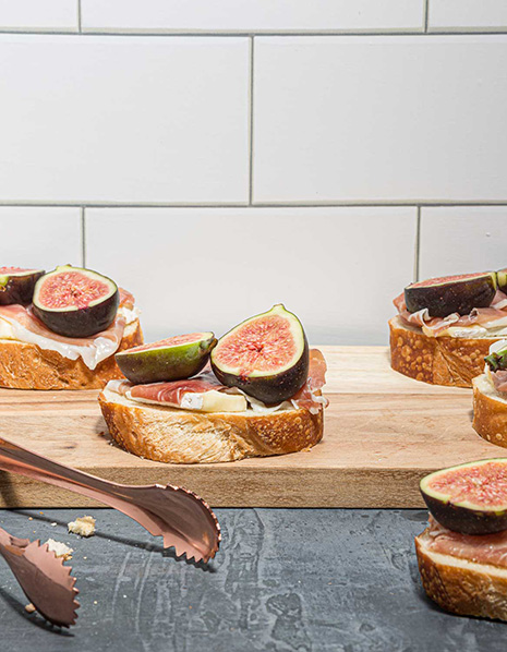 Food Photography of Fruit and Meat on Bread By the Professional Food Photographers at Harper Point.