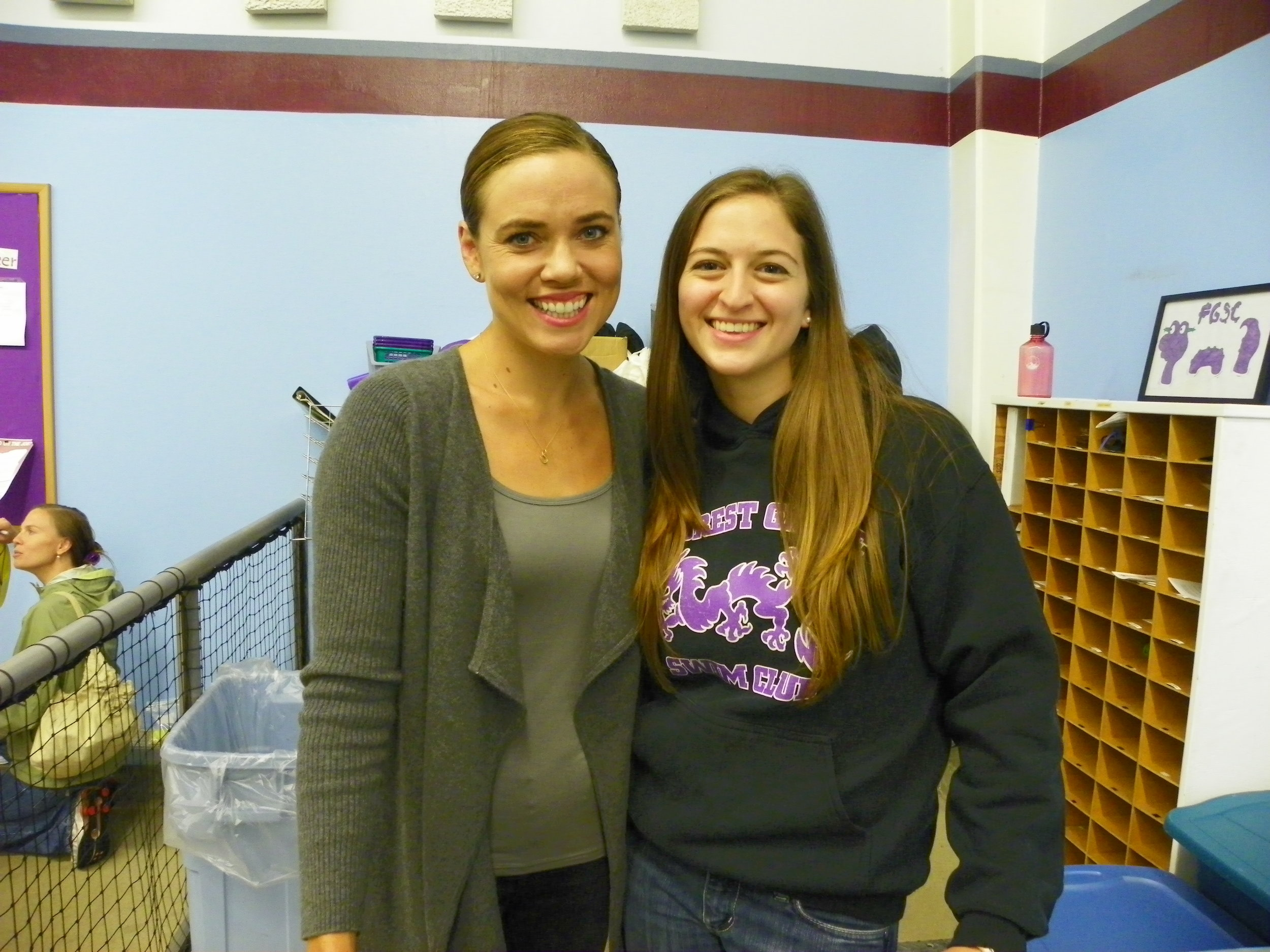 Natalie Coughlin and I in OR