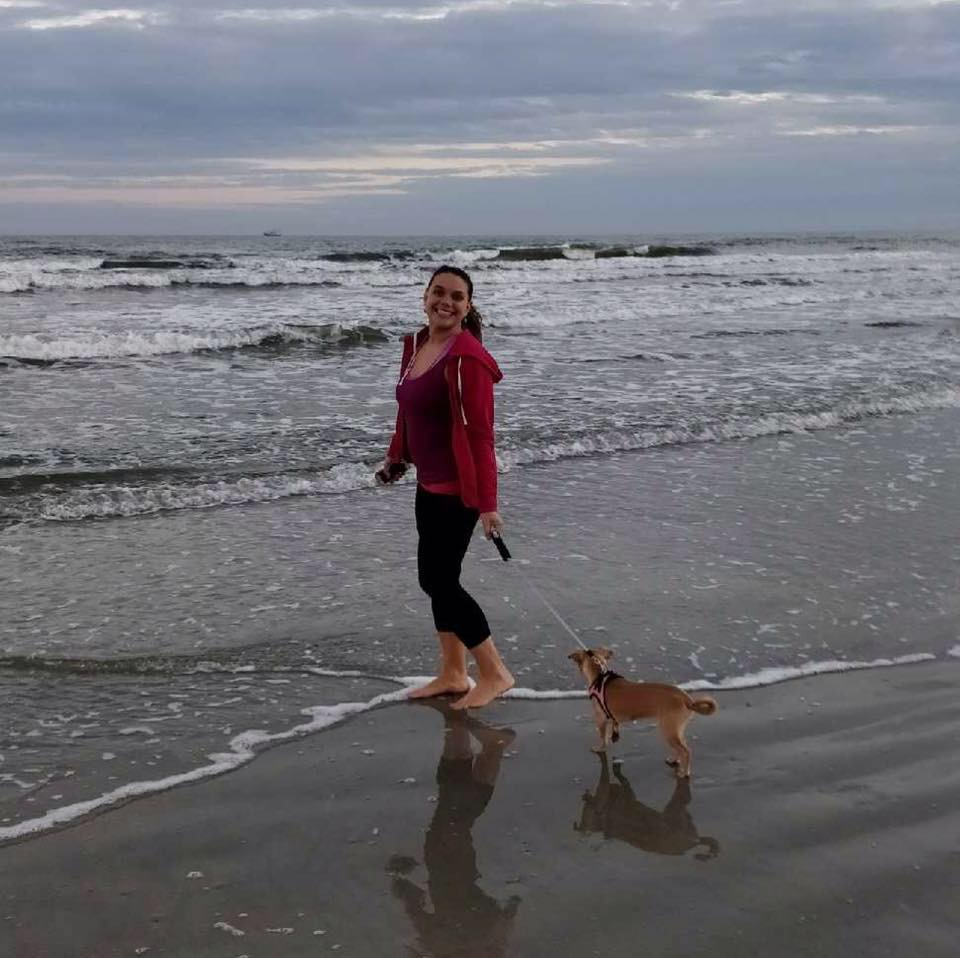 Aubree and I at our happy place - Galveston, Texas