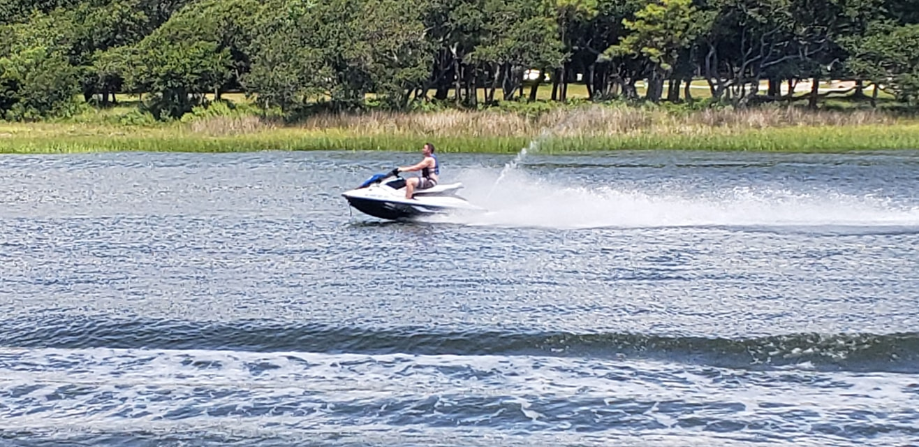 Jet skiing on the Intracoastal Waterway