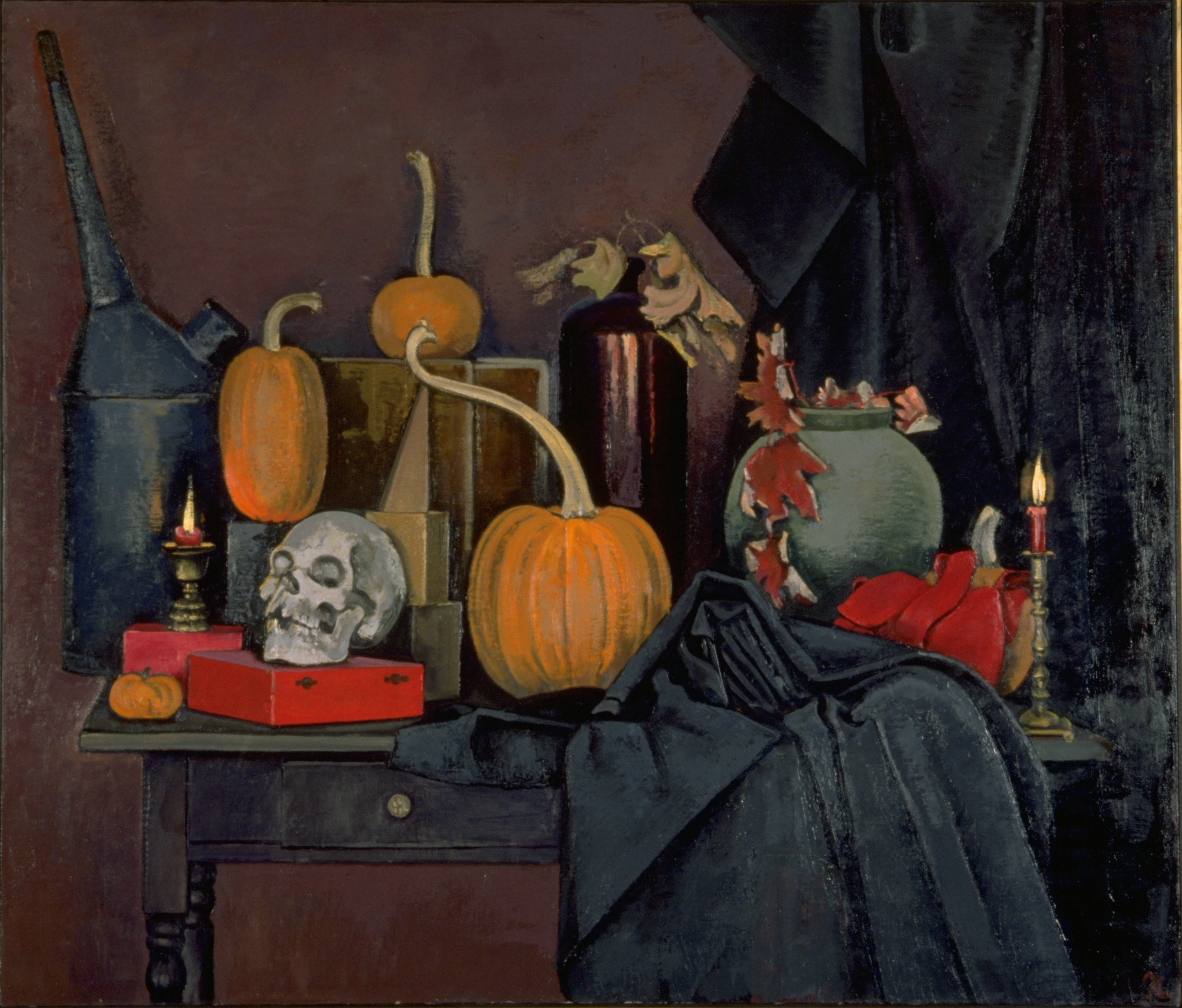 Halloween Still Life; Park Hall. 1990s.