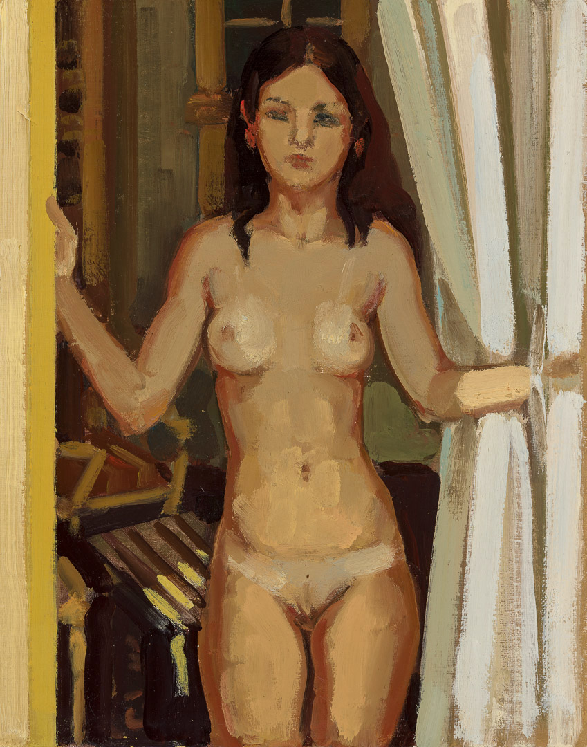 Yellow Nude in Doorway