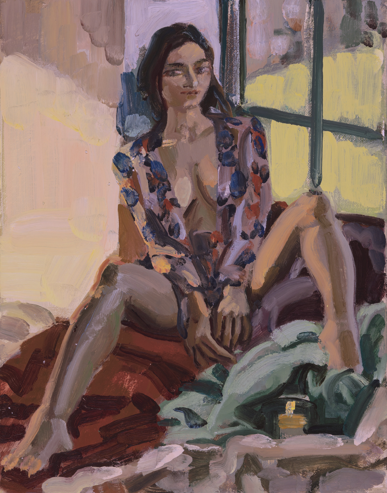 Nude with Flowered Jacket