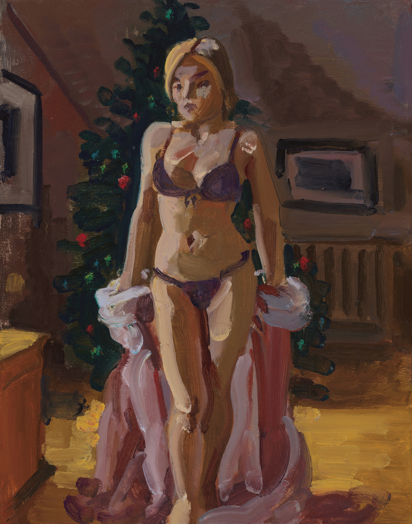 Nude with Christmas Tree