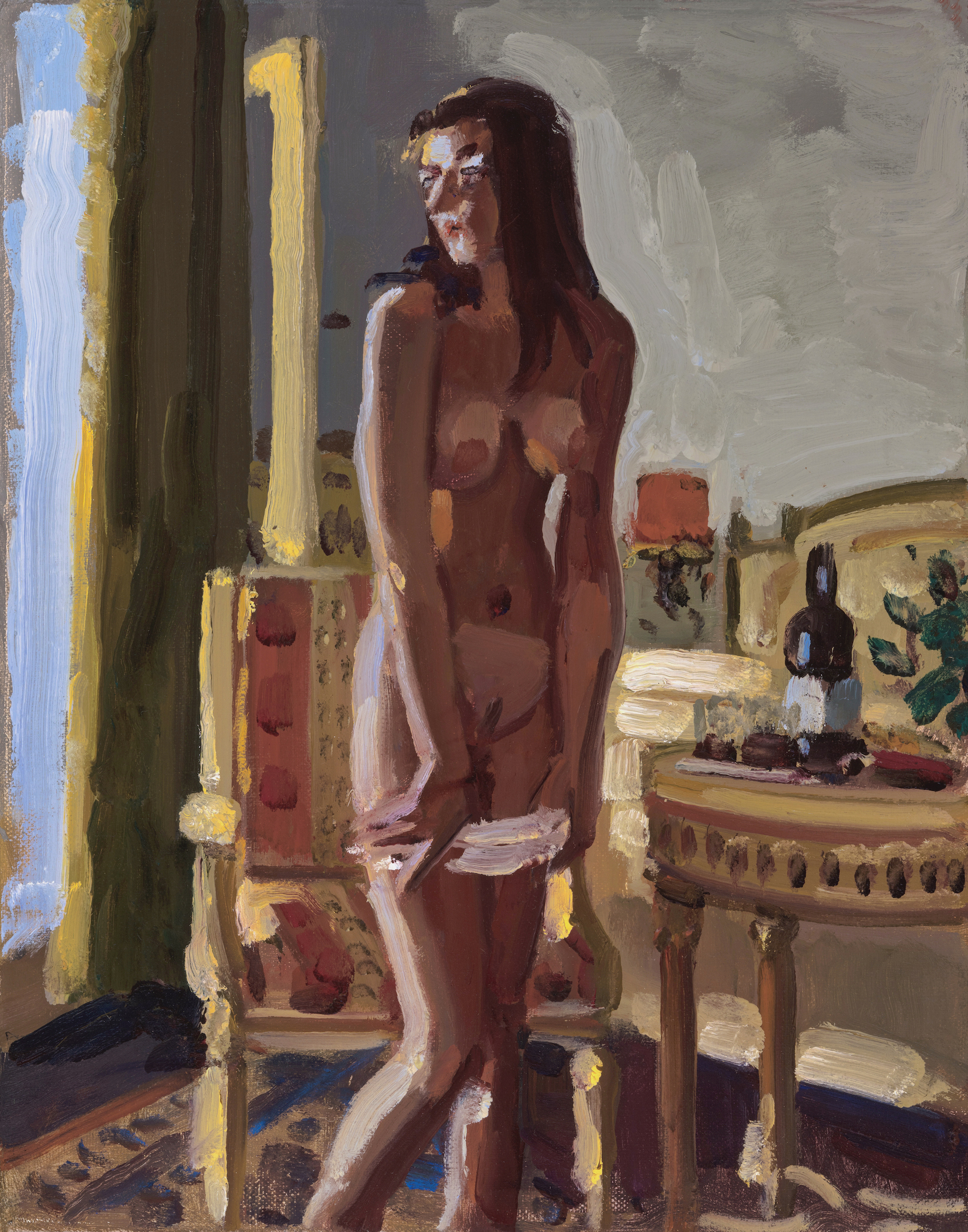 Nude with Wine Bottle
