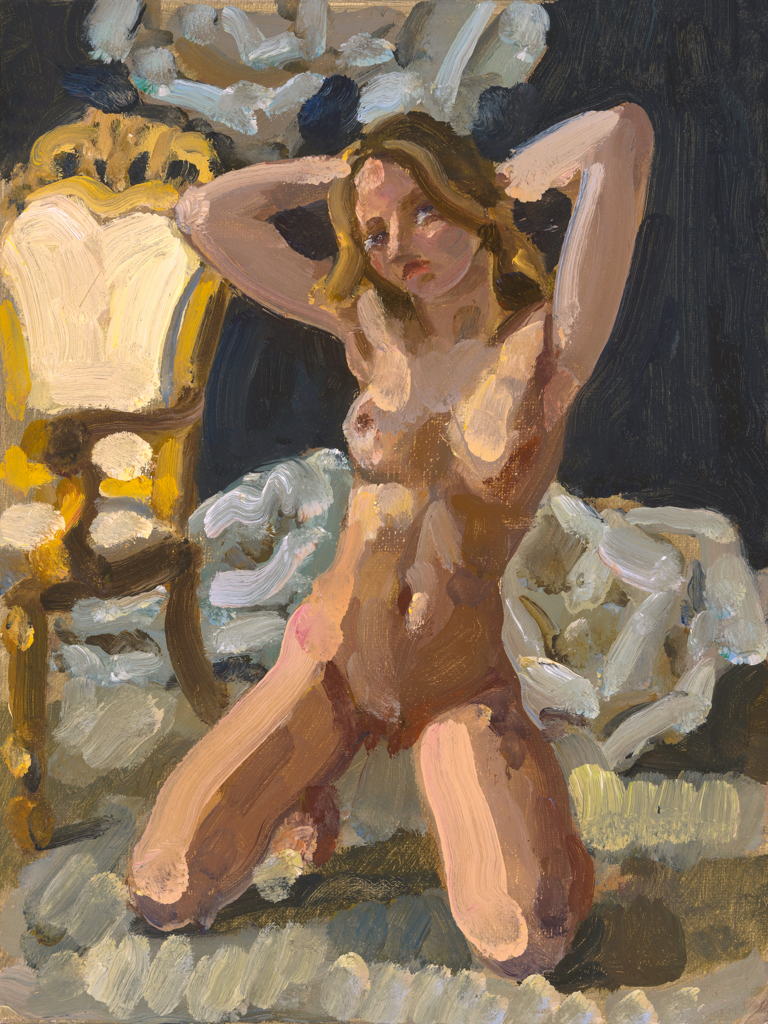 Nude with French Chair