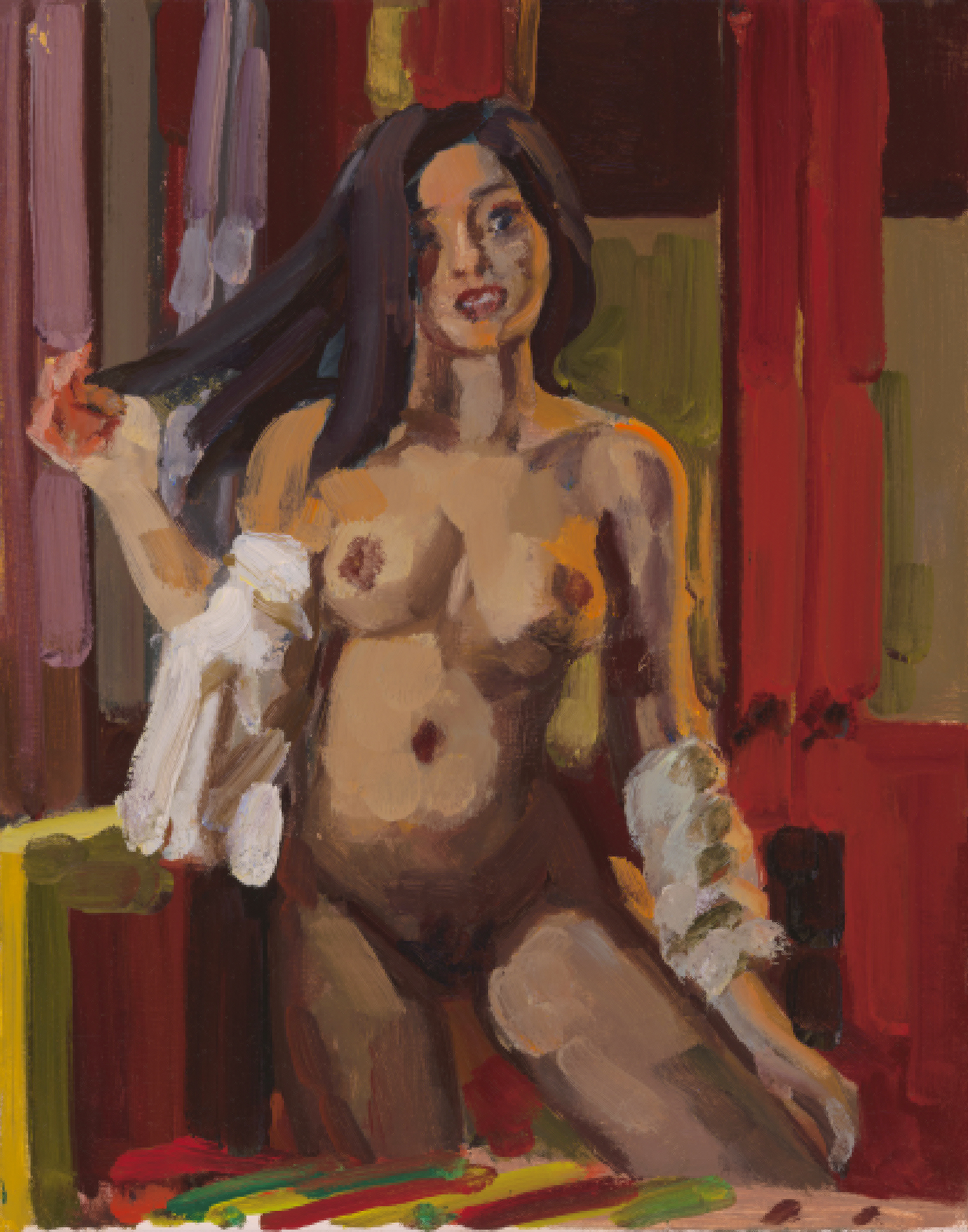 Nude with  Red Door