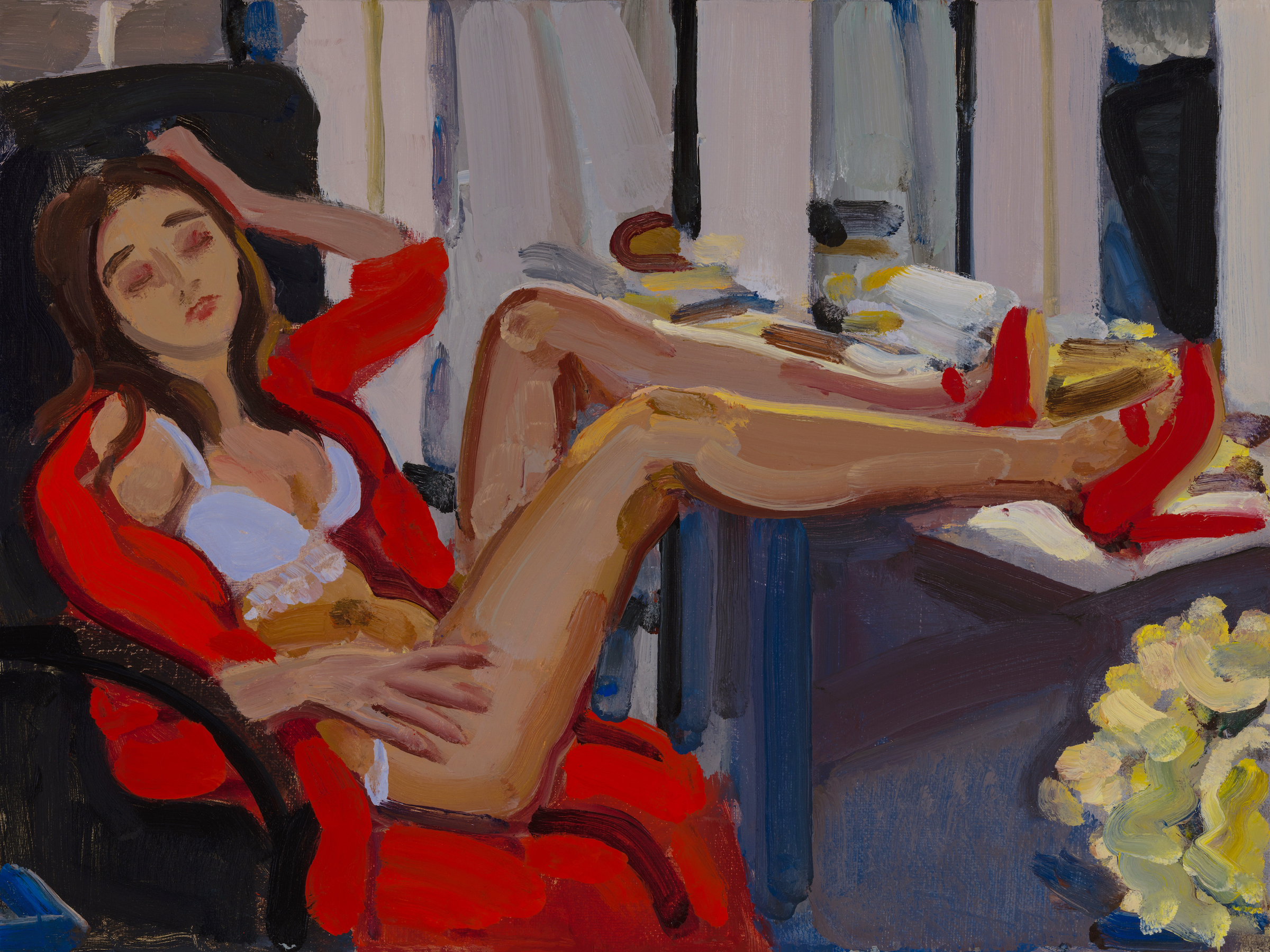 Nude with Red Coat