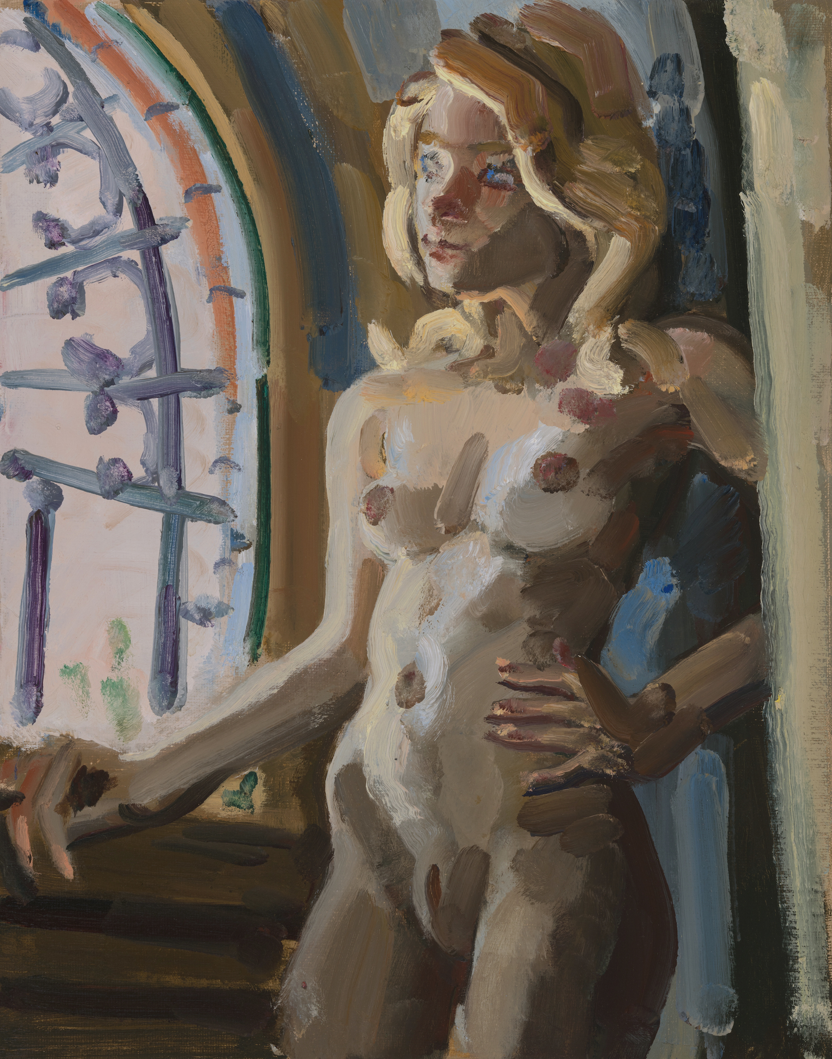 Nude by Window and Grillwork