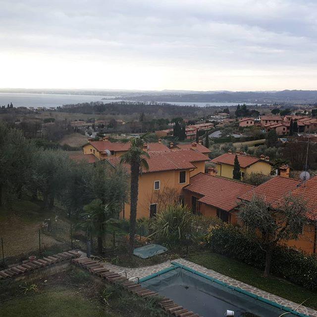 Morning views from the bedroom #italy #lakegarda