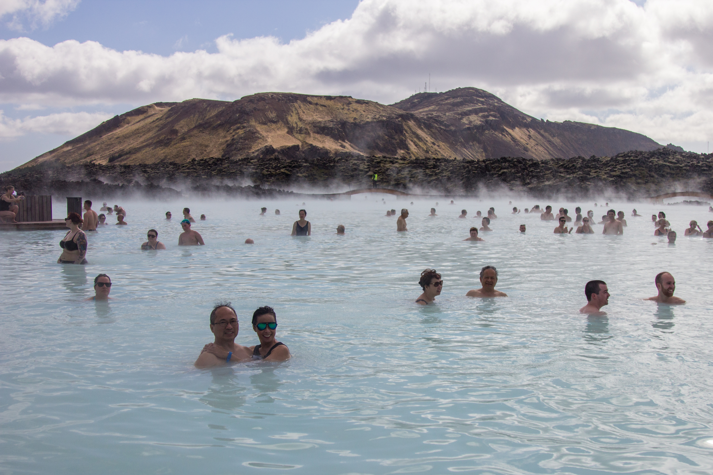Blue Lagoon ft. my lovely parents in the bottom left.