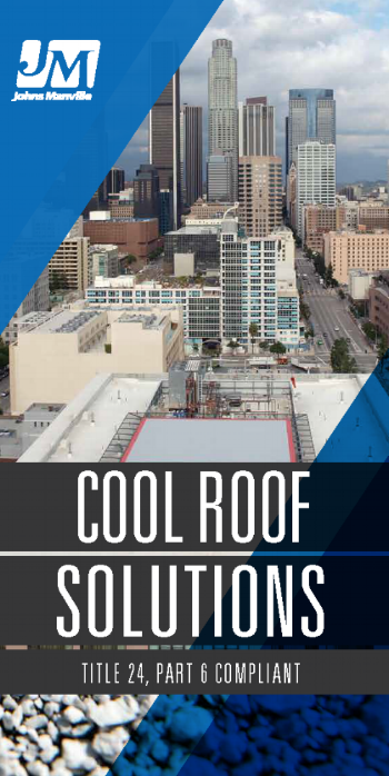 When combined with the proper amount of roof insulation, highly reflective and emissive products, such as JM white membranes, offer a system that significantly reduces heat gain into the building, saving you energy.   Visit our cool roof brochure for more details. -