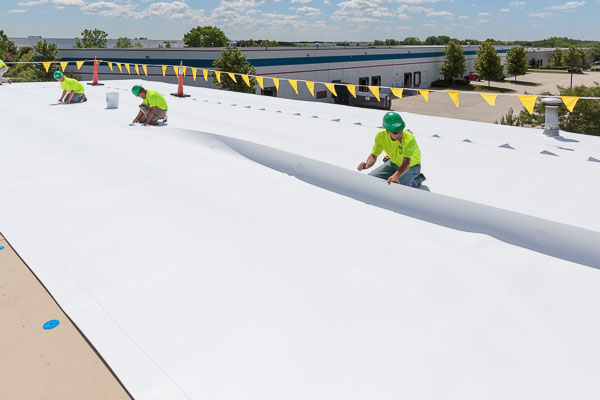 Rusty Roof Replaced with Reflective JM TPO — COMMERCIAL ROOFING NEWS